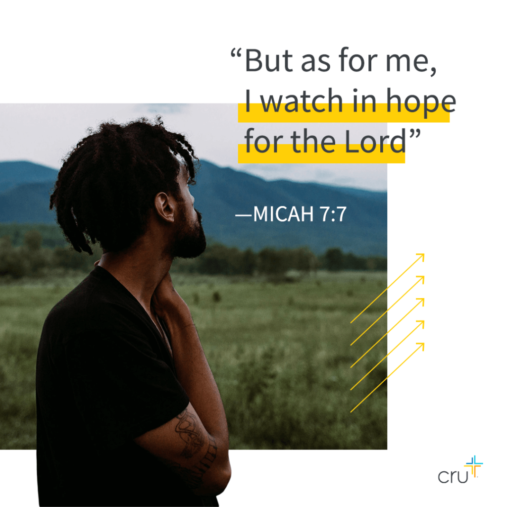"""man looking away. """"But as for me, I watch in hope for the Lord"""" Micah 7:7"""